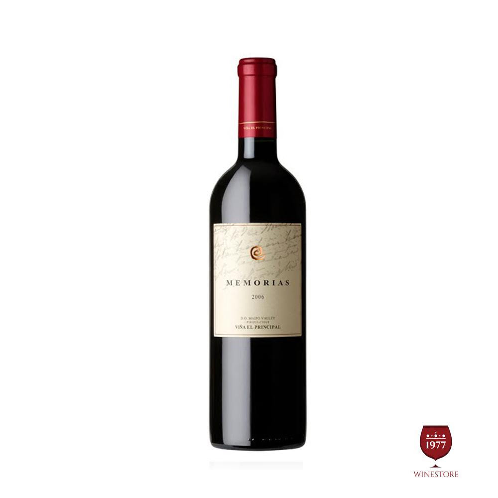 Rượu Vang Chile Cao Cấp MEMORIAS