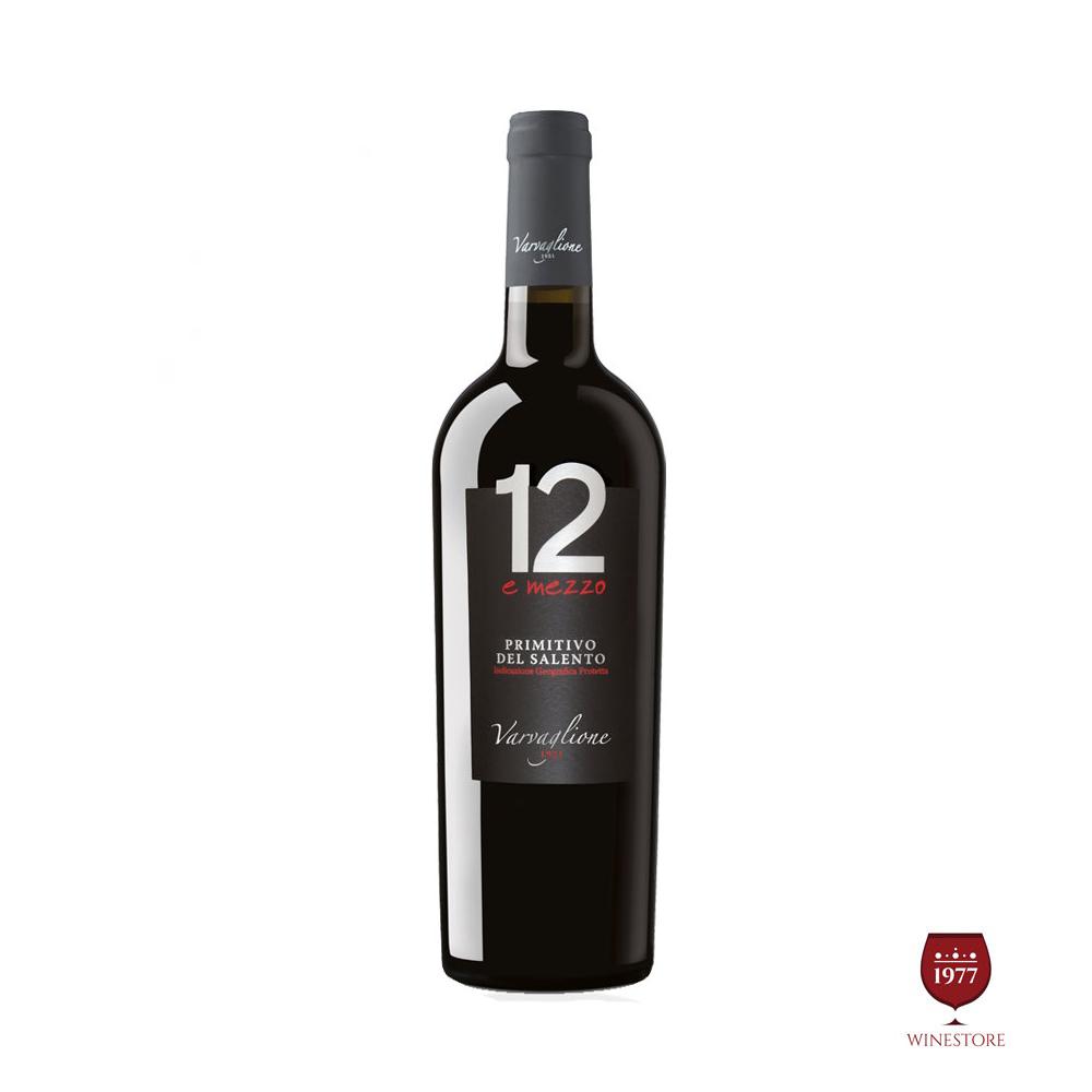 Rượu Vang Ý 12 E Mezzo Primitivo del Salento