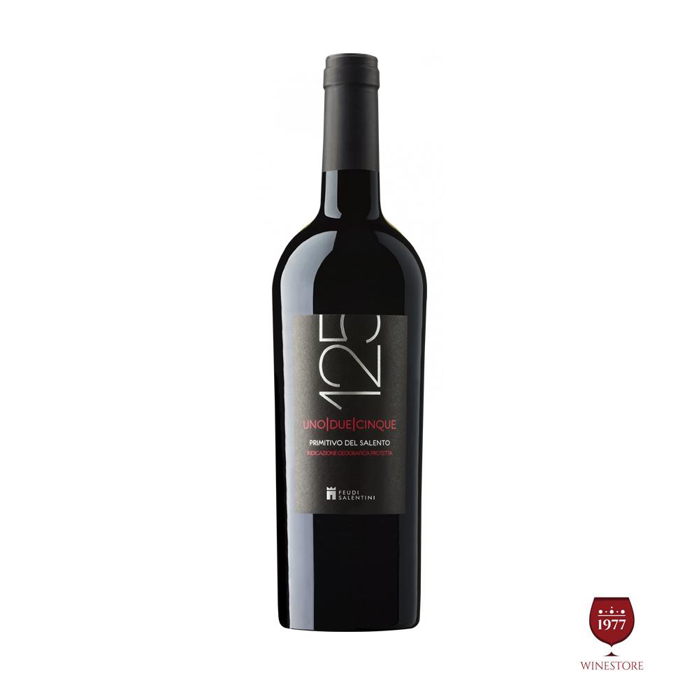Rượu Vang Ý 125 PRIMITIVO Del Salento 2015