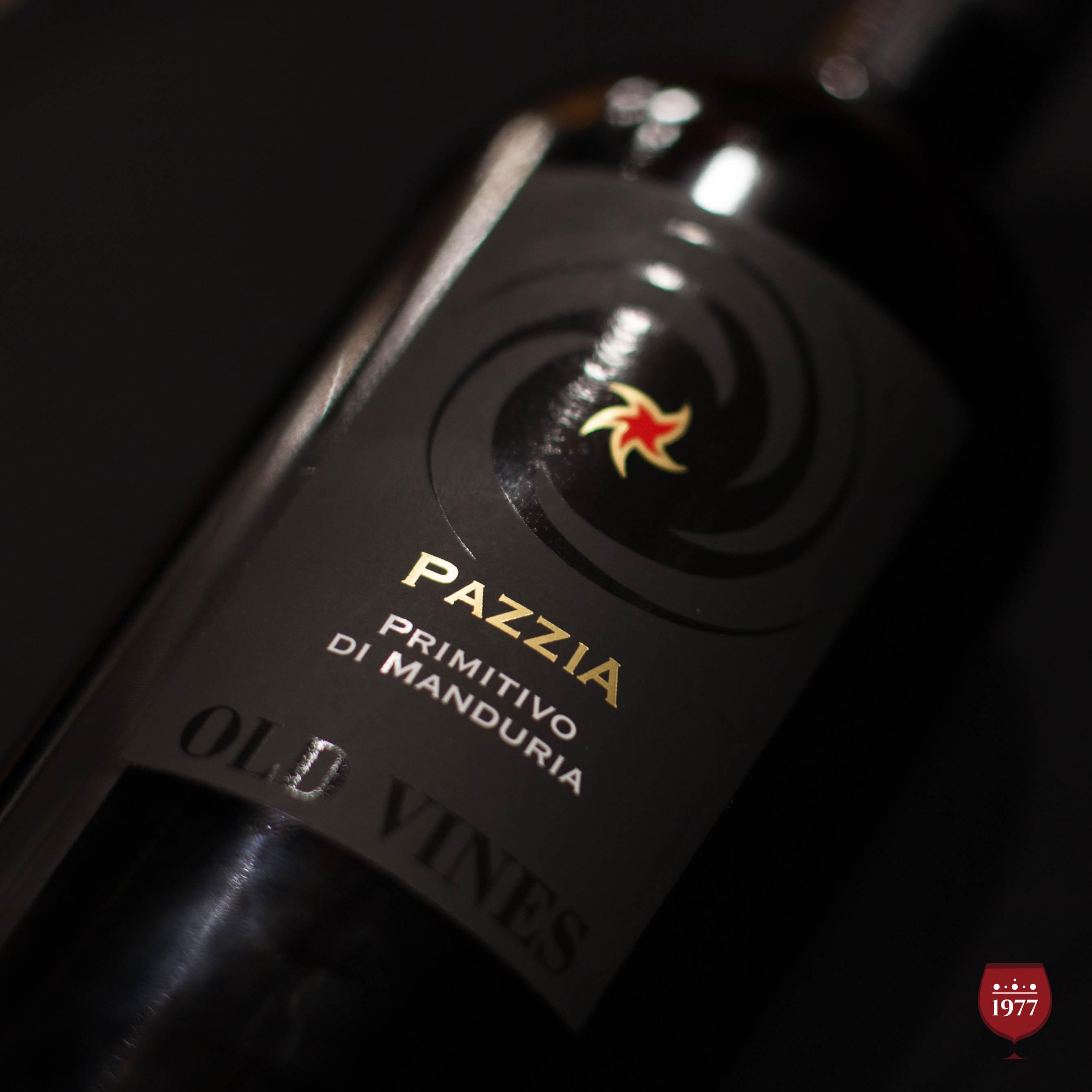 rượu vang PAZZIA Primitivo
