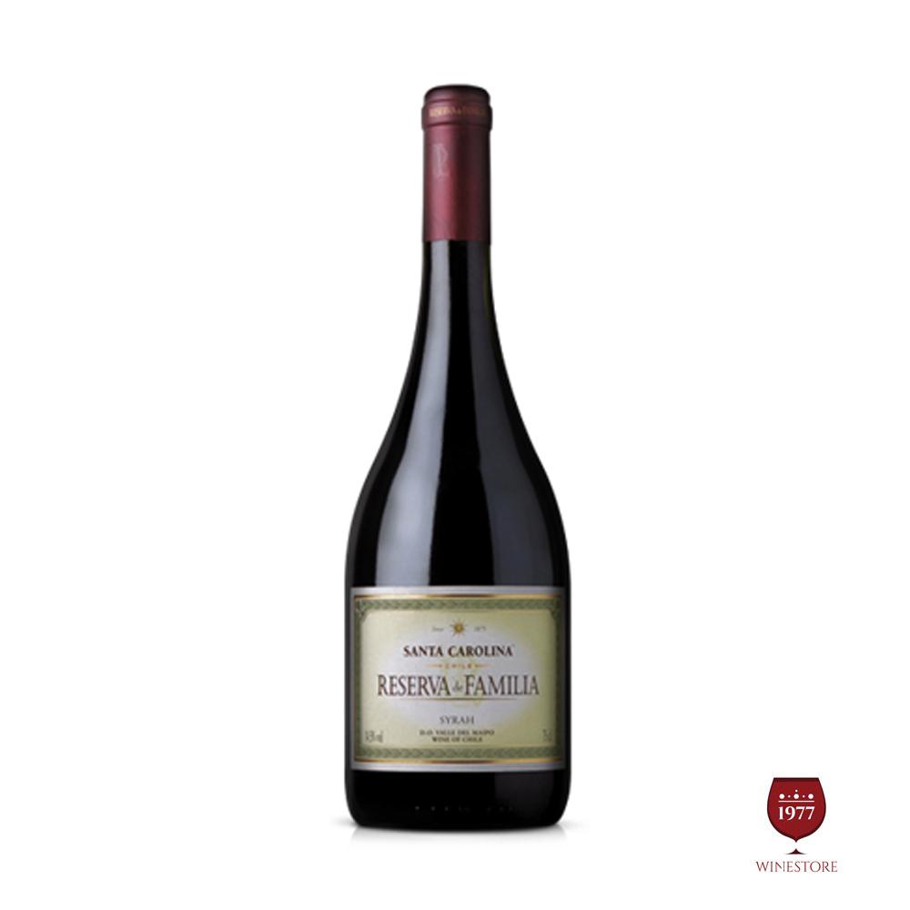 Rượu Vang Chile Reserva De Familia Syrah