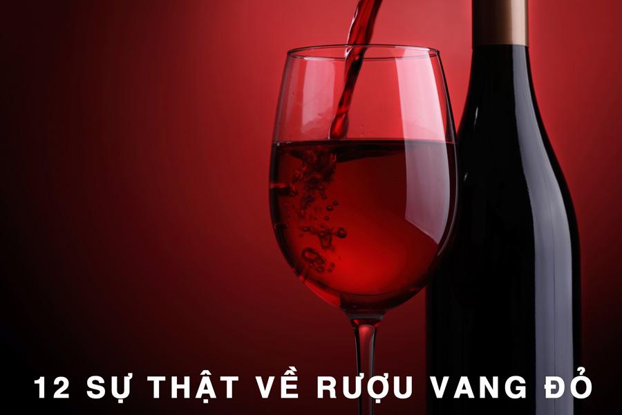 12 sự thật về rượu vang đỏ