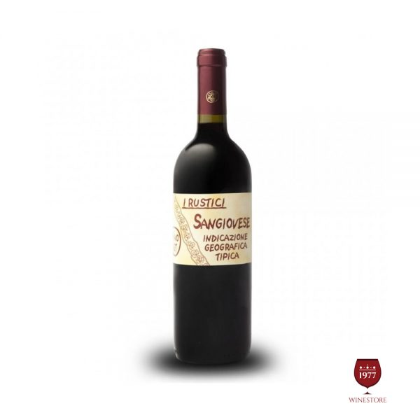 Rượu Vang I Rustici Sangiovese Puglia IGT – Vang Ý Nhập Khẩu
