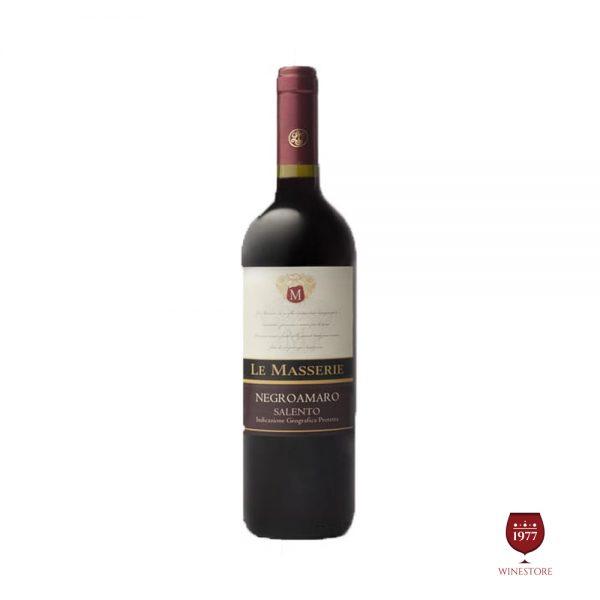 Rượu Vang Le Masserie Negroamaro – Vang Ý Puglia IGT Nhập Khẩu