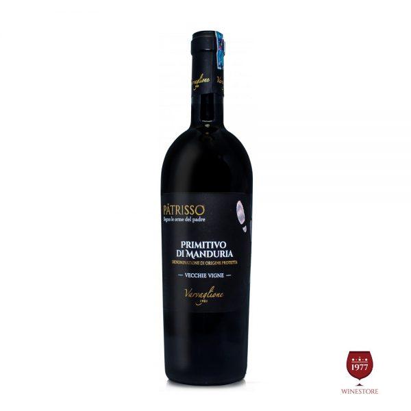 Rượu Vang Patrisso Primitivo di Manduria – Vang Ý Cao Cấp