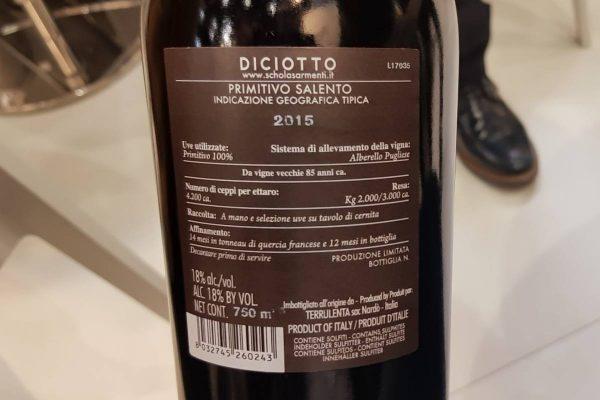 đặc điểm của rượu vang diciotto