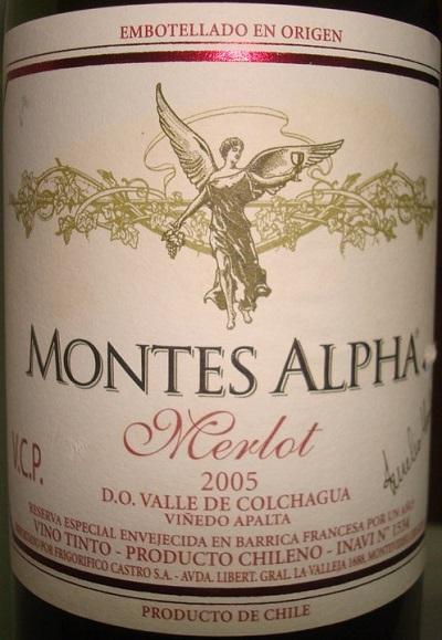 đặc điểm vang Montes Alpha Merlot