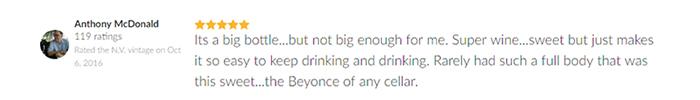 đánh giá của khách hàng về rượu vang 60 Sessantanni 2