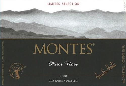 giới thiệu rượu vang Montes Limited Selection Pinot Noir