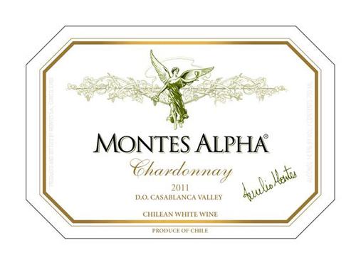 sản xuất rượu vang Chile Montes Alpha Chardonnay