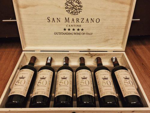 thùng rượu vang 50 Anniversario