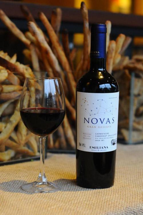 thưởng thức rượu vang chile novas