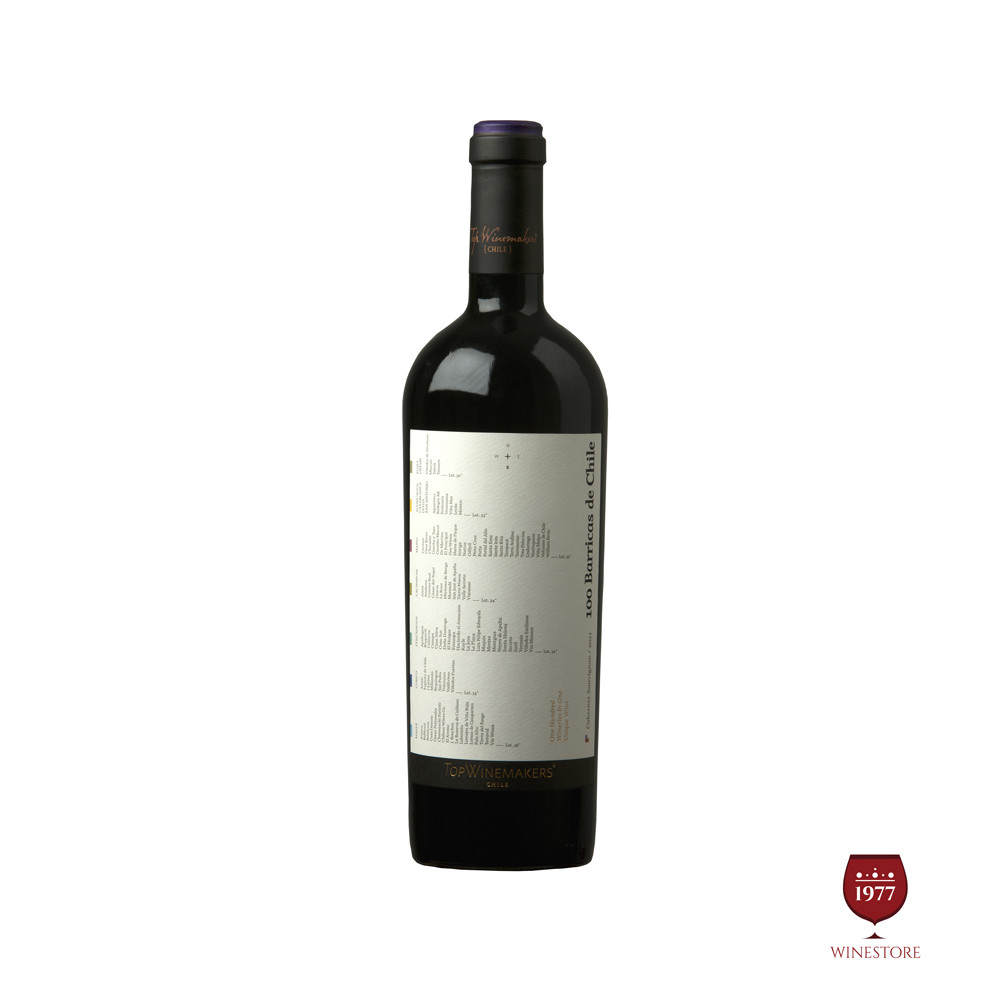 Rượu Vang Chile Cao Cấp Top Winemaker 100 Barricas Cabernet Sauvignon