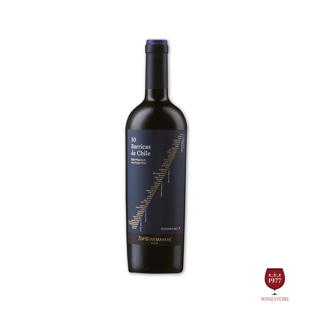 Rượu Vang Chile Cao Cấp Top Winemaker 50 Barricas Carmenere