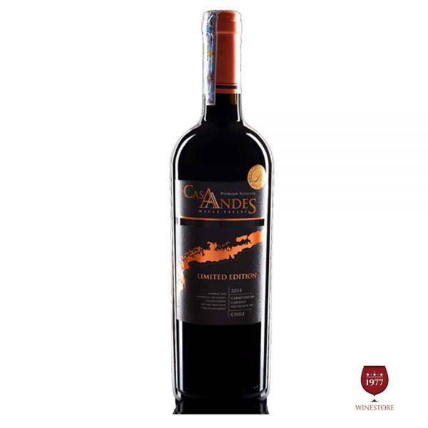 Rượu Vang Cas Andes Limited – Vang Chile Nhập Khẩu Chính Hãng
