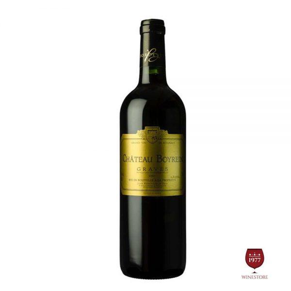 Rượu Vang Chateau Boyrein – Mua Vang Pháp Nhập Khẩu Giá Tốt
