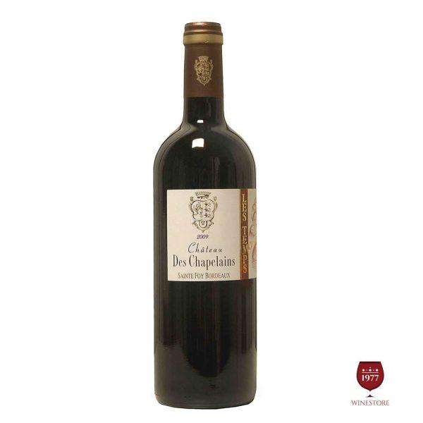 Rượu VangChateau Des Chapelains Red – Vang Pháp Giá Tốt