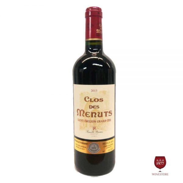 Rượu Vang Clos Des Menuts – Chai Vang Trứ Danh Của Pháp