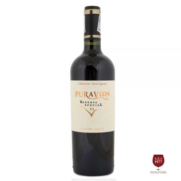 Rượu Vang Pura Vida Reserva Special 10 Cabernet Sauvignon – Chile