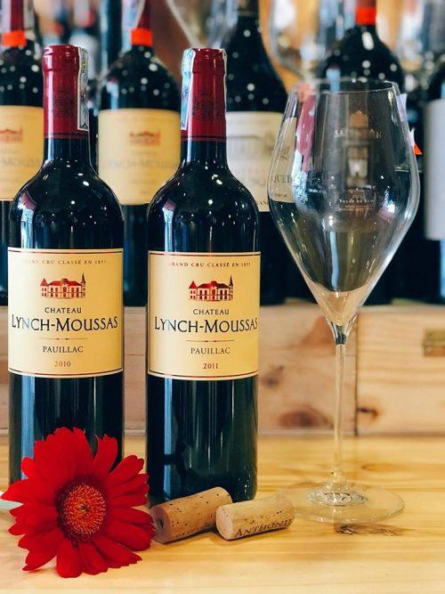 giá bán của rượu vang chateau lynch moussas