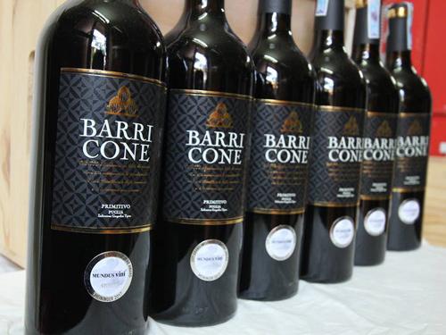 giới thiệu rượu vang barricone