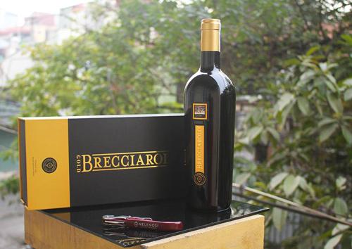 giới thiệu rượu vang brecciarolo gold