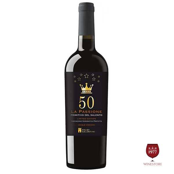 Rượu Vang 50 La Passione Primitivo Del Salento