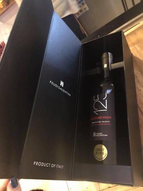 giá bán của rượu vang 125 primitivo