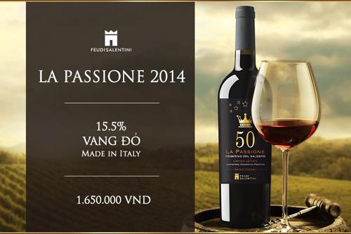 giới thiệu rượu vang 50 La Passione