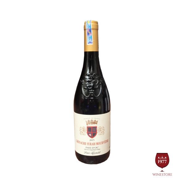 Rượu Vang Grenache Syrah Mourvedre Pays – Vang Pháp Giá Tốt