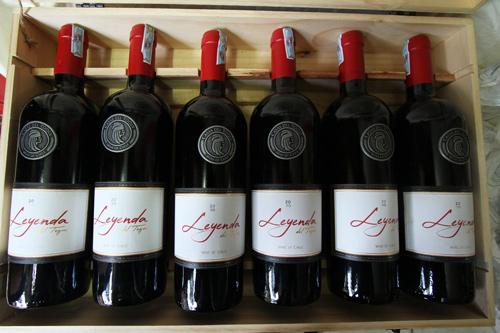 thùng rượu vang Chile Leyenda
