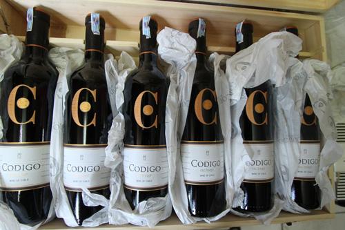 thùng rượu vang Codigo