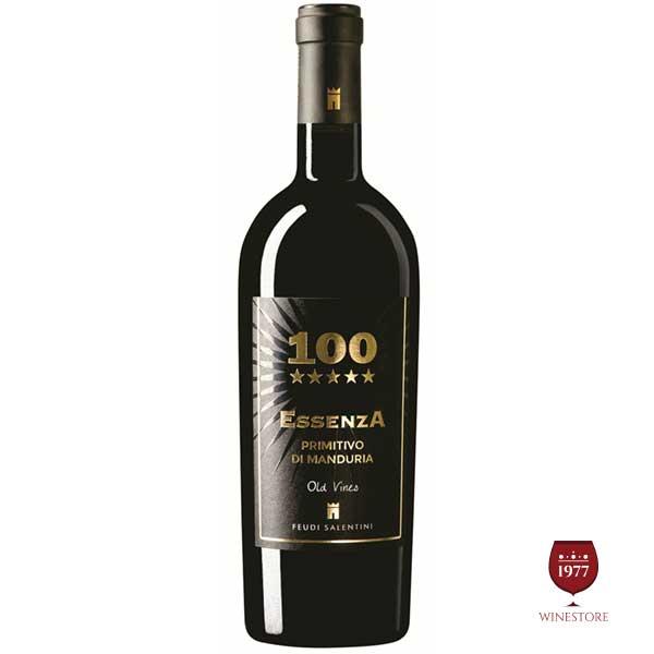Rượu Vang 100 Essenza Primitivo Di Manduria – Vang Đỏ Ý Cao Cấp