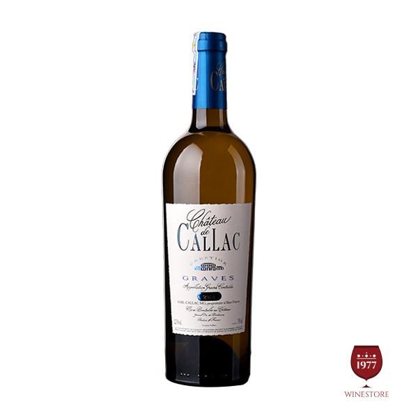 Rượu Vang Callac White – Mua Vang Pháp Chính Hãng Chiết Khấu