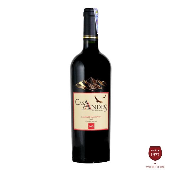 Rượu VangCas Andes Cabernet Sauvignon – Vang Đỏ Chile Chính Hãng