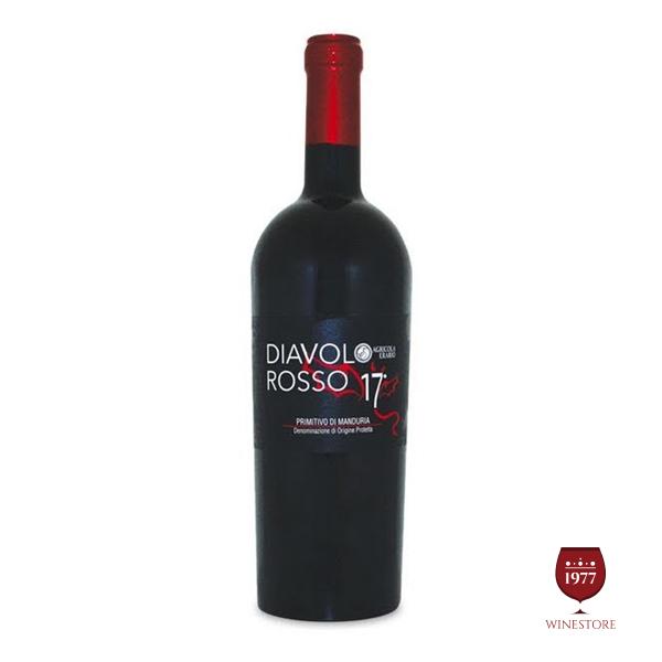 Rượu VangDiavolo Rosso– Rượu Vang Ý 17 Độ Đặc Biệt
