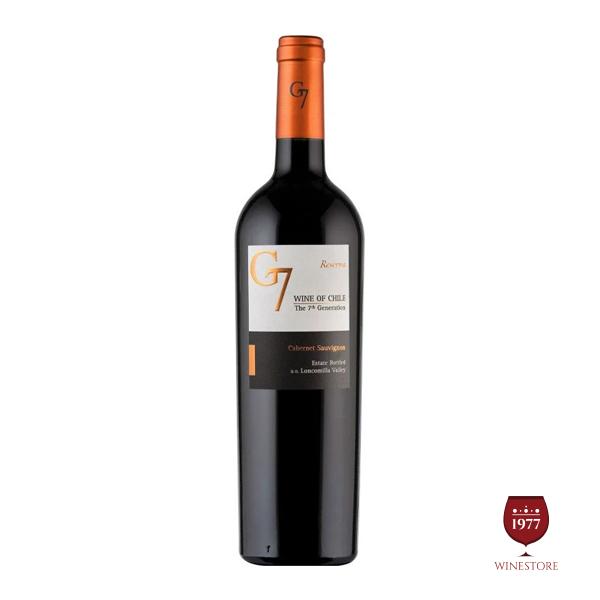 Rượu Vang G7Reserva Cabernet Sauvignon – Vang Chile Giá Tốt