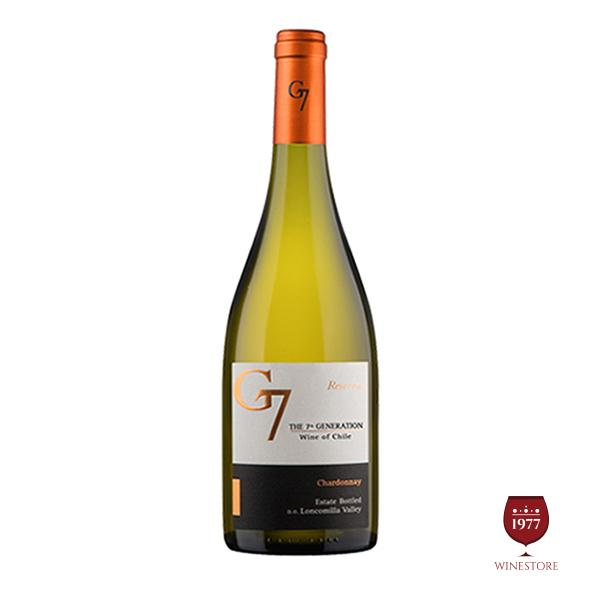 Rượu Vang G7 Reserva Chardonnay – Vang Chile Nhập Khẩu Giá Rẻ