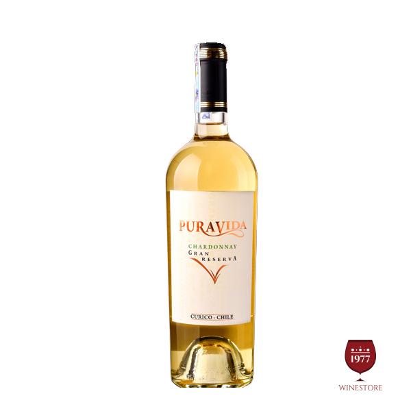 Rượu Vang Pura Vida Gran Reserva Chardonnay – Vang Trắng Chile