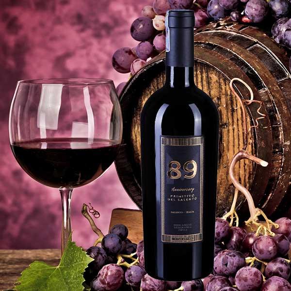 Rượu Vang 89 Anniversary Primitivo Del Salento Limited Edition