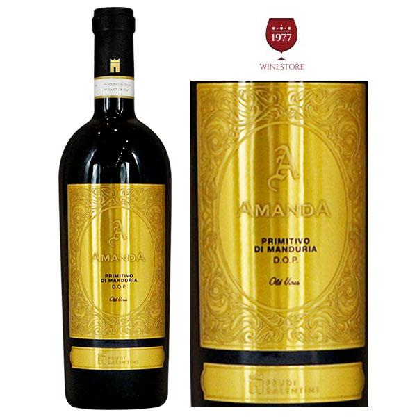Rượu Vang Amanda Primitivo di Manduria