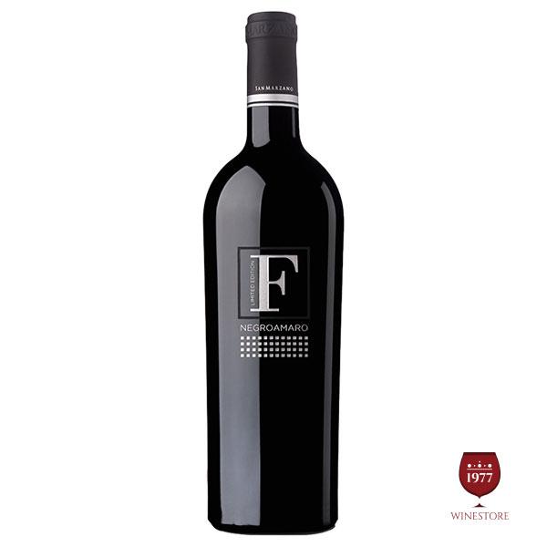 Rượu Vang F Limited Negroamaro – Rượu Vang Ý Cao Cấp