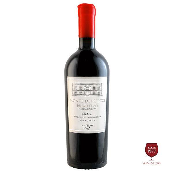 Rượu Vang Monte Dei Cocci Primitivo – Rượu Vang Ý 16 Độ