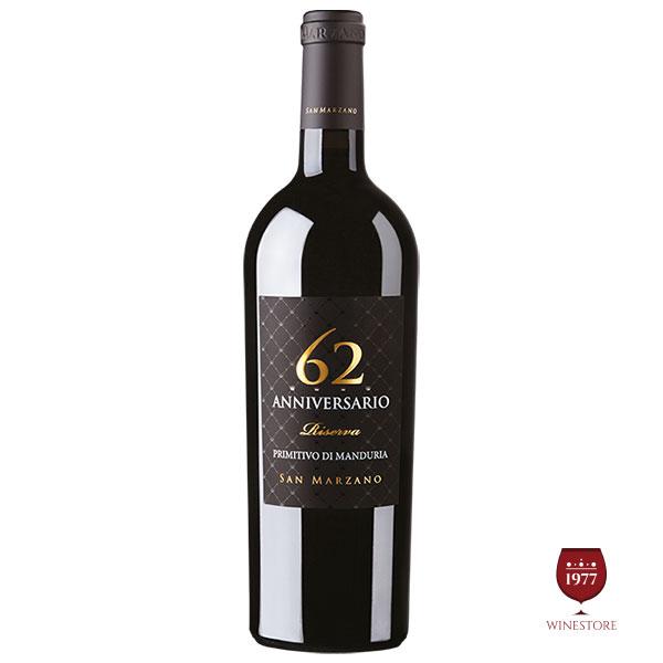 Rượu vang 62 Anniversario Primitivo di Manduria – Giá Sốc