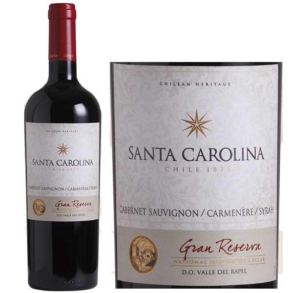 Rượu Vang Santa Carolina Gran Reserva C.Sauvignon Carmenere Syrah