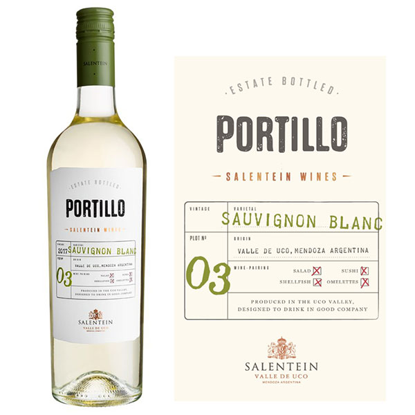 Rượu vang Salentein Portillo Sauvignon Blanc