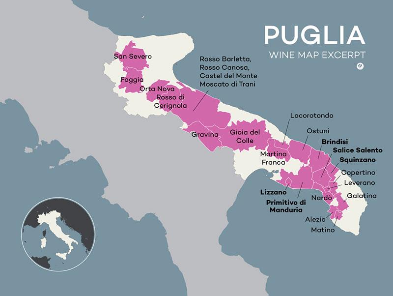 Vùng Rượu Vang Puglia