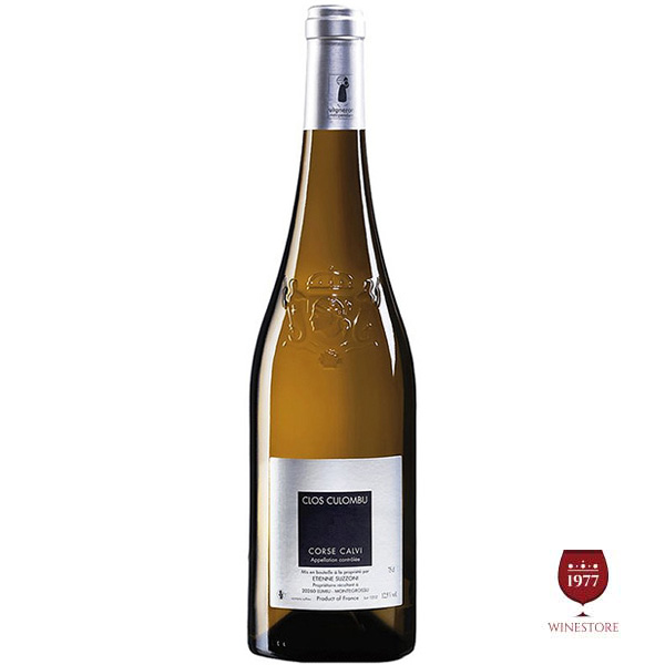 Rượu Vang Trắng Etienne Suzzoni Clos Culombu Corse Calvi