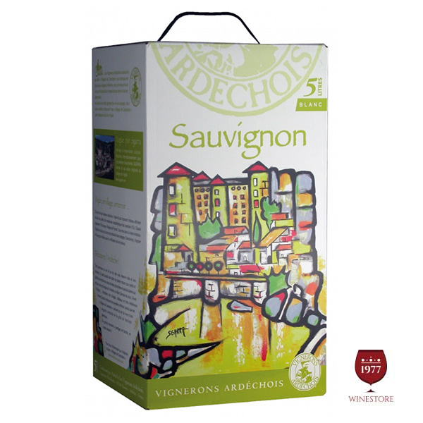 Rượu Vang Bịch Vignerons Ardechois Sauvignon Blanc